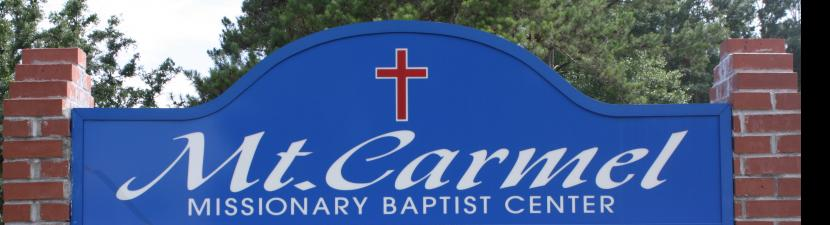 Mt  Carmel Missionary Baptist Association - Welcome To Our